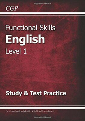 Functional Skills English Level 1 - Study & Test by CGP Books NEW Paperback