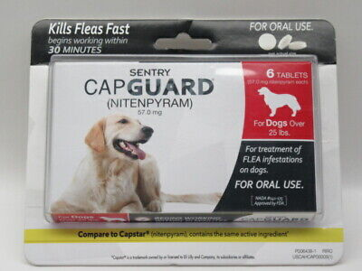 Sentry Capguard Flea Treatment 6 Months for Dogs Over 25lbs