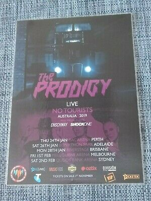 The Prodigy - 2019 No Tourists Australia Tour - Laminated Promo Tour Poster