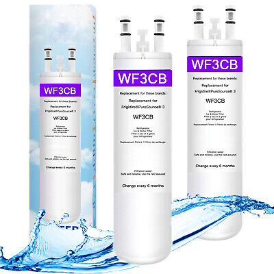 1/2 Pack Fit Frigidaire WF3CB Pure source Replacement Refrigerator water Filter