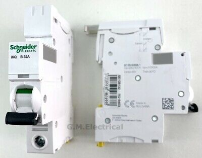 SCHNEIDER iKQ 32 AMP TYPE B SINGLE POLE / PHASE MCB LOADCENTRE 32A B32 SE10B132