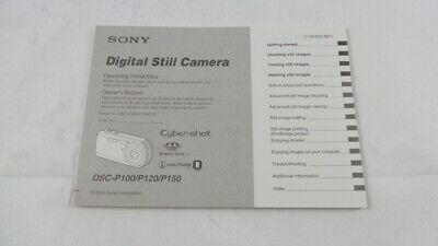 Sony DSC-P100/P120/P150 Operating Instructions - User Guide (2-149-8531-20)