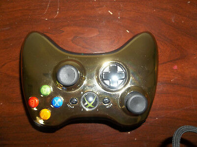 Official XBox 360 Wireless Controller Color Gold Chrome