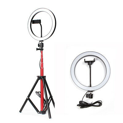 "LED Ring Light with Stand Dimmable LED Light Kit For Makeup Youtube Live 10"" HOT"