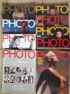 PHOTO Lot de 9 Magazine PHOTO  1987 1988  N° 240 241 242 243 244 245 246 247 249