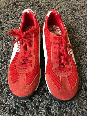 da2770b8b40 Vintage Women's Classic Red Puma Suede Sneakers Shoes Size 6 Retro