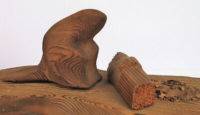 Canada Beaver Carving Wood Sculpture Signed Crowe Modernist Abstract Folk Art