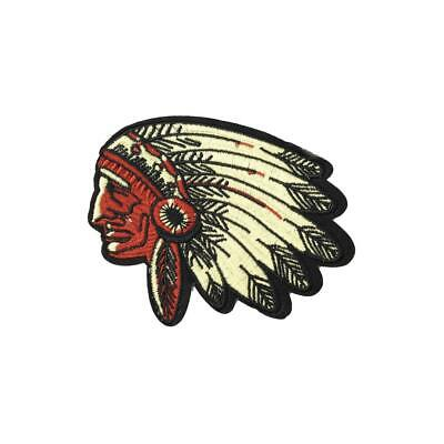 Native American Indian Chief (Iron On) Embroidery Applique Patch Sew Iron Badge