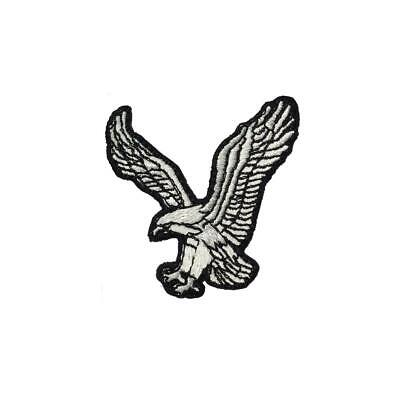 Landing Eagle Bird (Iron On) Embroidery Applique Patch Sew Iron Badge