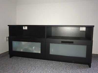 ikea tv m bel bank brimnes lowboard schwarz braun eur. Black Bedroom Furniture Sets. Home Design Ideas
