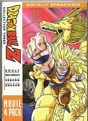 Movie DVD - DRAGON BALL Z Collection Three Movie 4 Pack - Pre-Owned - Funimation