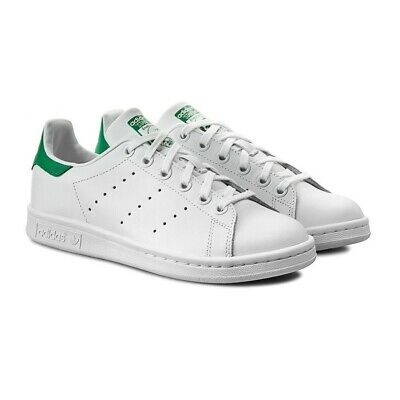 new product 070d1 d845b Adidas Originals Stan Smith J Donna Ragazzo M20605 Bianco Verde White Tennis