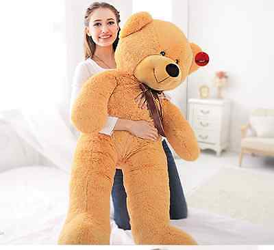 63''/160cm Giant Huge Big light brow Teddy Bear Stuffed Plush Soft toy xmas gift