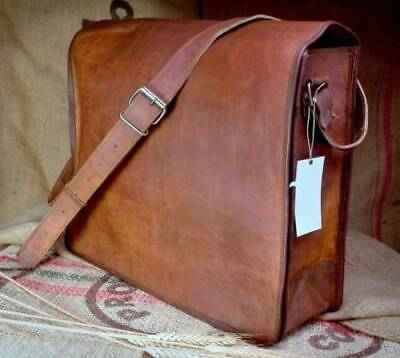 beae29bf6 Mens Leather Messenger Bag Computer Distressed Brown Satchel Briefcase Bag