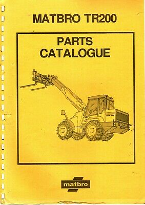 Matbro TR200 Spare Parts Manual Catalogue on CD TR 200 Turbo