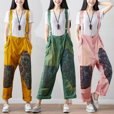 Alibaba Dungarees Baggy Jumpsuit Hippy Harem Pant Overall Strap Cargo Ethnic RP1