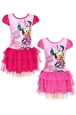 Girls Disney Minnie Mouse Dress Kids Character Dress Age 2, 3, 4, 5 & 6 Years