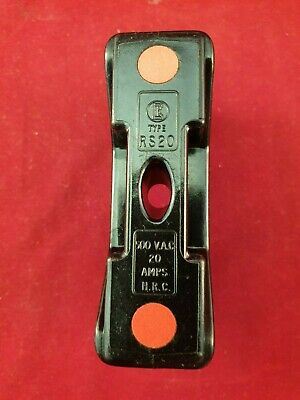 RS20 English Electric  Bakelite  Fuse Carrier / Holder For NIT Fuses