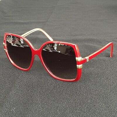 7dc8ad1a31d2 Vintage Paola Belle Made In France Candy Red Gradient Sunglasses 1970's  Disco