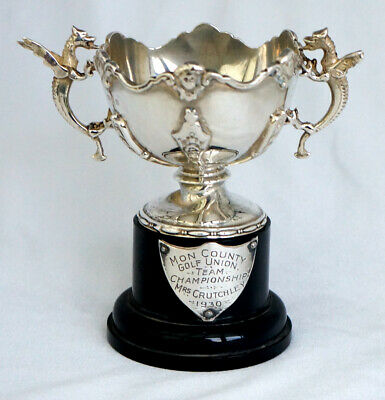 Solid Silver Welsh Dragons Trophy. Monmouthshire County Ladies Golf Union 1930.