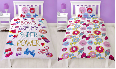 Official JoJo Siwa Super Reversible Single Duvet Cover - Kids Bed Bedding Set