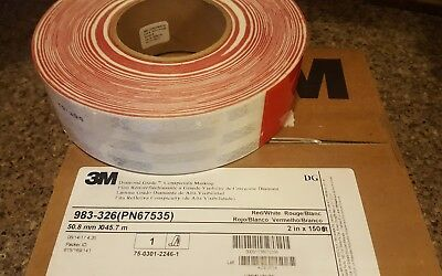 """3M CONSPICUITY REFLECTIVE TRAILER TAPE SAFETY 2"""" x 150'"""