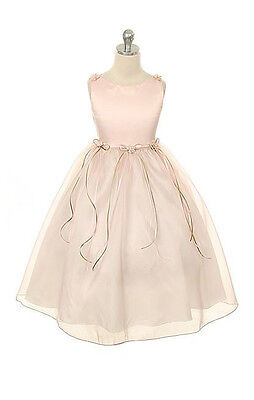 New Rose Flower Girl Dress Pageant Wedding Birthday Party Bridesmaid Baby Formal