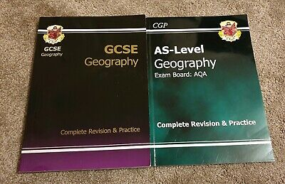 GCSE & AQA AS-Level Geography Revision and Practice Books. Fast Dispatch