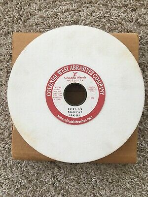 Bench Grinding Wheel 8 x 1 x 1 1/4 White Aluminum Oxide Made in USA