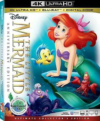 The Little Mermaid Anniversary Edition (4K Ultra+Blu-Ray) W/slipcover **mint**