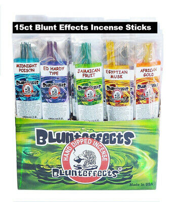 15 PACK Blunteffects / Blunt Effects Incense Sticks Hand Dipped Perfume Wands