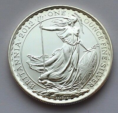 2012 Great Britain Britannia 2 Pounds 1 Oz Fine Silver Coin Mint Uncirculated