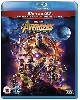 AVENGERS: INFINITY WAR 3D / 2D Blu-ray - SHIPS FROM US SELLER