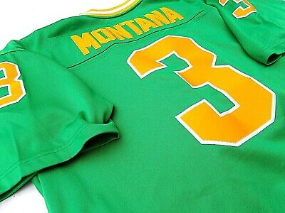 separation shoes 26acc d1664 HOF JOE MONTANA NOTRE DAME Adult 2XL Adidas True School Football Jersey