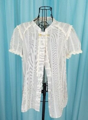 77ca5b209c1 Anthropologie Floreat Buttonless Blouse with Pin Striping Size 14 Pre-Owned