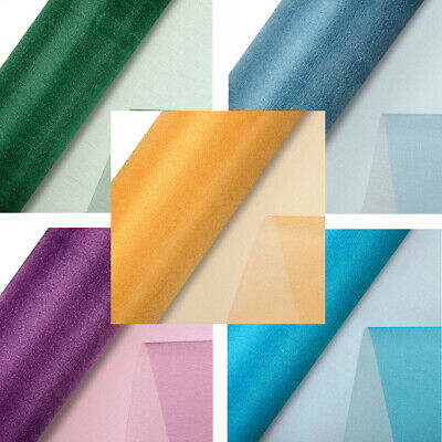 SHEER SNOW ORGANZA 290mm x 25M ROLL WEDDING CHAIR SASH VENUE PARTY DECOR CRAFT
