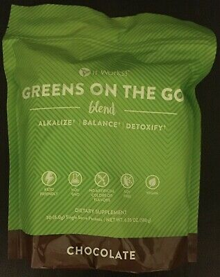 It Works Chocolate Greens On The Go Packets Balance Detoxify 30 Packets NEW