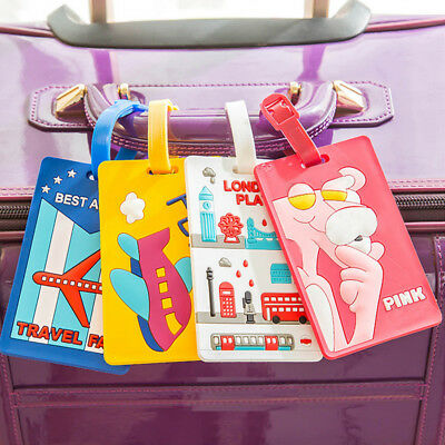 Durable Luggage Label Silicone Tag Cute Bag Holder Suitcase Accessories Card
