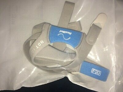 New ResMed AirFit F20 Replacement Headgear and Clips - MPN 16136 Size Medium