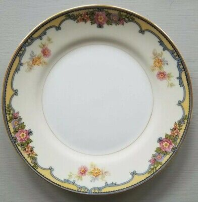 Vintage Noritake China Bread Plate Dish~ OXFORD~Yellow Pink Flowers~EXCELLENT!!!
