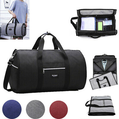 New 2 in 1 Travel bag Shoulder Luggage Hangeroo Two-In-One Garment Bag Duffle US