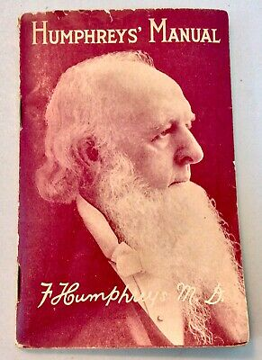 Humpherys' Manual by F Humphreys MD  Care and Treatment of all Diseases 1929