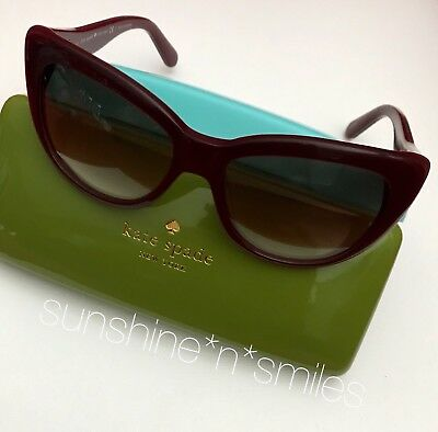 359a7167d98e3 Kate Spade EMALEE Cat Eye Sunglasses 53mm ~ Russet   Warm Brown Gradient  0W88-B1