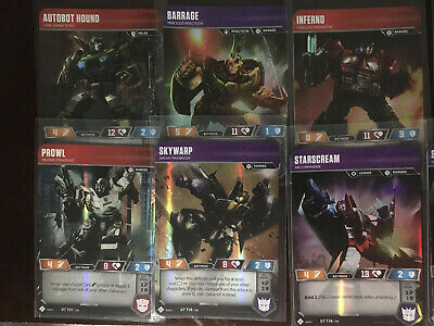 Transformers Trading Card Game Tcg Common And Uncommon Character Cards Lot Of 10