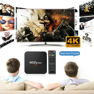 2019 Ultra 4K MXQ Pro Quad Core Android TV Box K HD Sports 3D Media Player TOP