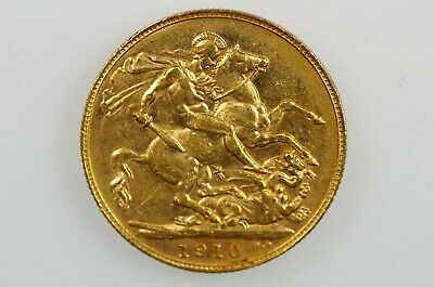 1910 Perth Mint Gold Full Sovereign in Very Fine Condition