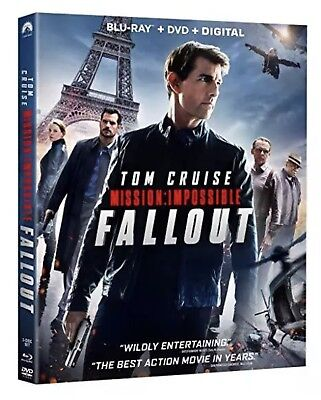 Mission:impossible Fallout(Blu-Ray+Dvd+Digital)W/slipcover New