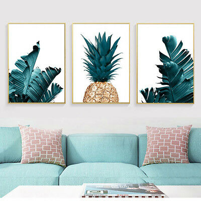 ALS_ Nordic Pineapple Plant Painting Decor Picture Home Wall Art Decor Poster Gi