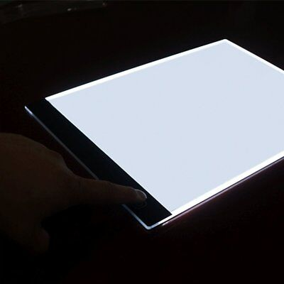 A4 LED Drawing Board Art Stencil Tracing Table 4mm Light box Pad 3 brightness BA