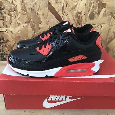 hot sale online 3f524 3742b Nike Air Max 90 Anniversary - Black   Infrared   White Size 6 NEW